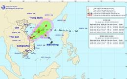 Áp thấp nhiệt đới KAJIKI đang đi vào đất liền Quảng Trị -Thừa Thiên Huế
