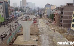 Ảnh: Đại công trường gần 10.000 tỷ đồng trên 'đường cong mềm mại' ở Hà Nội