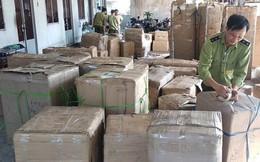 Bắt lô hàng lớn có chứa hàng trăm thùng mỹ phẩm không rõ nguồn gốc