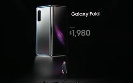 Smartphone màn hình gập Samsung Galaxy Fold chính thức ra mắt: Giá 1980 USD, màn hình 4.6 inch gập mở thành 7.3 inch, RAM 12GB, 6 camera, bộ nhớ trong 512GB UFS 3.0