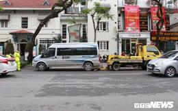 Hàng loạt xe ô tô vi phạm ở Hà Nội bị cẩu trước thềm Hội nghị Mỹ - Triều