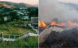 Homestay nổi tiếng nhất nhì ở Đà Lạt bị cháy lớn, nhiều du khách hoảng loạn