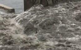 Phát hoảng với clip nước thải tuôn ra bãi biển Đà Nẵng