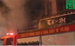Cháy cửa hàng đồ ăn nhanh tại Đê La Thành, Hà Nội