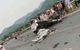 Xe con đấu đầu xe tải trên đường Hòa Lạc, xe biến dạng hoàn toàn, tài xế tử vong tại chỗ