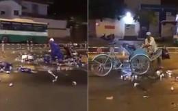 """Hàng chục người lao vào """"hôi bia"""" ở trung tâm Sài Gòn, tài xế buồn bã bỏ đi"""