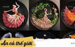Nghệ thuật sashimi Nhật Bản độc đáo đến mức nhìn thoáng qua không ai nghĩ tác phẩm này được làm từ cá