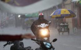 Mưa lớn bất ngờ đổ xuống Sài Gòn, nhiều người phải bật đèn xe lưu thông