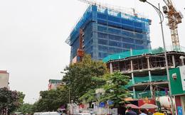 Cận cảnh chung cư xây sắp xong chưa nghiệm thu móng, mở bán rầm rộ