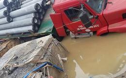 Đường ống Trung Quốc tiếp tục được sử dụng dẫn nước sông Đuống