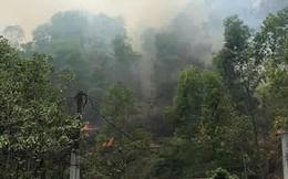 Đang cháy lớn tại núi Nầm Hà Tĩnh