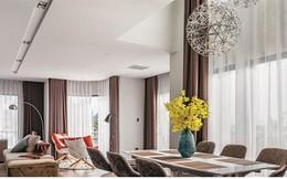 Ngôi nhà có nội thất đẹp mãn nhãn với tông màu nâu - trắng