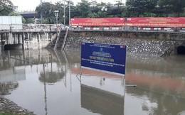 Mưa lớn, khu đặt 'bảo bối' của Nhật làm sạch sông Tô Lịch chìm nghỉm