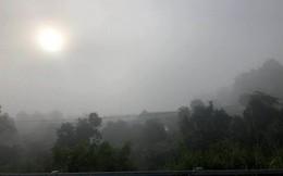 Sương mù dày đặc xuất hiện trên cao tốc TP.HCM - Long Thành - Dầu Giây