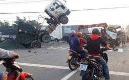 CLIP: Tai nạn ôtô hãi hùng ở thị xã Bến Cát, tỉnh Bình Dương