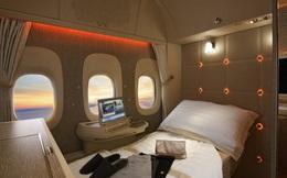 Choáng với vé máy bay ghế hạng nhất giá 600 triệu: Xa xỉ, tiện nghi như khách sạn thu nhỏ, khách còn được tắm nước nóng trong 5 phút