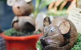 Dừa hình con chuột độc đáo ở Sài Gòn giá gần 1 triệu đồng, khách nườm nượp đặt hàng dịp Tết Canh Tý 2020