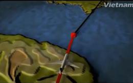 [MH370] Đồ họa 3D hành trình chiếc máy bay Malaysia mất tích