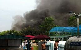 Đang cháy lớn tại khu vui chơi thiếu nhi Mỹ Đình