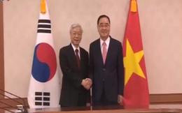 Tổng Bí thư Nguyễn Phú Trọng hội kiến Thủ tướng Hàn Quốc