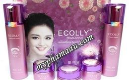 Mỹ phẩm giả Ecolly vẫn được bày bán tràn lan