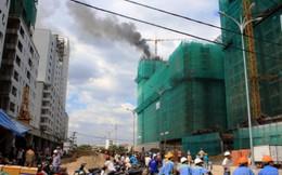 Cháy tầng 25 chung cư đang xây