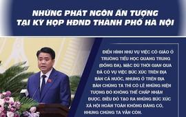 [Infographics] Những phát ngôn ấn tượng tại Kỳ họp HĐND TP Hà Nội