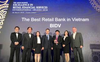 Năm thứ 4 liên tiếp BIDV được The Asian Banker vinh danh Ngân hàng bán lẻ tốt nhất Việt Nam