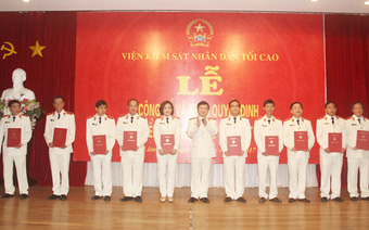 Viện KSND tối cao bổ nhiệm 12 Kiểm sát viên cao cấp