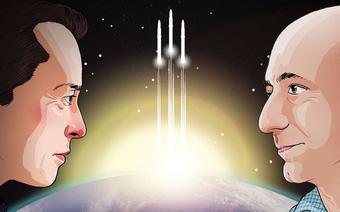Jeff Bezos và Elon Musk: tên lửa của ai to hơn?