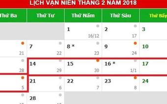 Chính phủ dự kiến quyết định thời gian nghỉ Tết 7 ngày