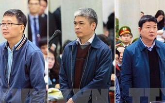 Bị cáo Đinh La Thăng, Trịnh Xuân Thanh và đồng phạm sắp nói lời sau cùng trước tòa