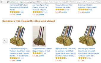 Không chỉ có lá chuối, chổi chít Việt Nam cũng được bán đắt gấp 10 lần trên Amazon