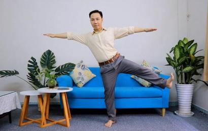 Thử khách 'đứng một chân' thu hút quý ông tuổi 40 kiểm tra nguy cơ đột quỵ