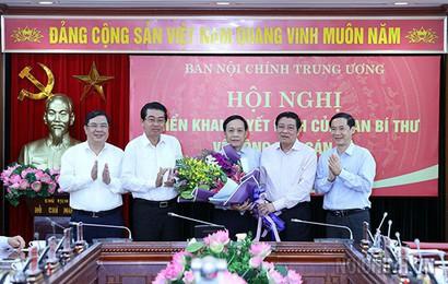 Ông Nguyễn Thanh Hải giữ chức Phó Ban Nội chính Trung ương