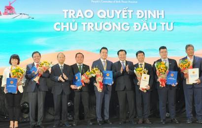 Tỉnh Bình Thuận trao giấy chứng nhận đầu tư cho siêu dự án nghỉ dưỡng quy mô 90ha Thanh Long Bay