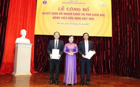 Bộ Y tế bổ nhiệm Phó Giám đốc Bệnh viện Hữu nghị Việt Đức