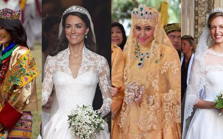 Vẻ đẹp và khí chất của 12 cô dâu hoàng tộc trên khắp thế giới