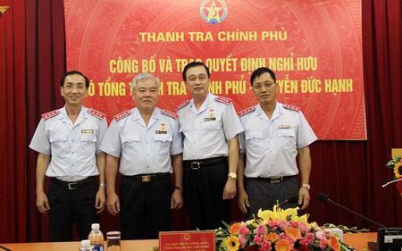 Trao quyết định nghỉ hưu cho Phó Tổng Thanh tra Chính phủ