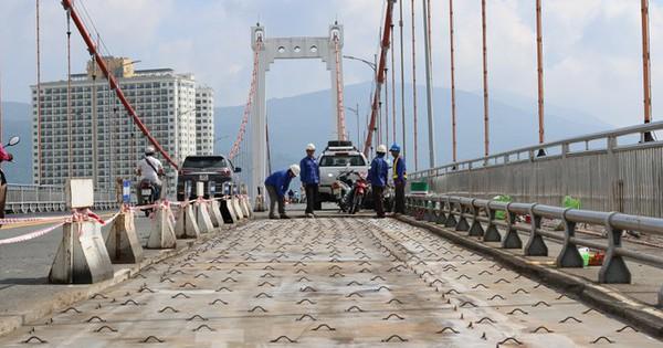 Cận cảnh cầu dây võng 1.000 tỷ dài nhất Việt Nam phải thay mặt đường