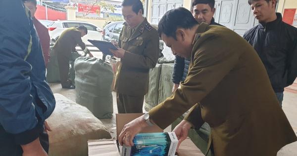 Thu giữ gần 1.000 túi dầu ủ tóc do Trung Quốc sản xuất không có hóa đơn hợp pháp kèm theo