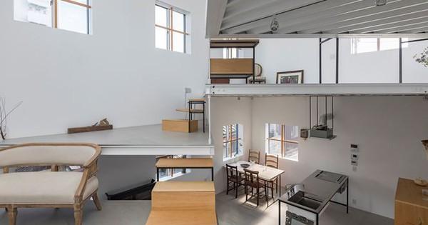 Ngôi nhà 13 tầng không phòng, không vách ngăn tại Nhật Bản