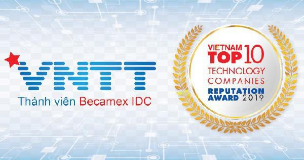 VNTT tiếp tục được vinh danh Top 10 Doanh nghiệp Công nghệ uy tín năm 2019