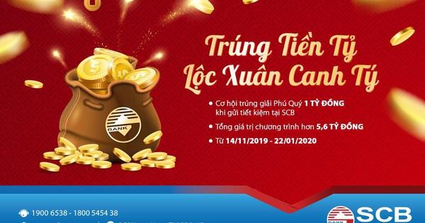 """""""Trúng tiền tỷ - Lộc xuân Canh Tý"""" cơ hội trúng 1 tỷ cùng SCB"""