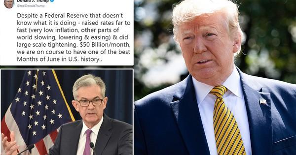 Tổng thống Trump ví Fed như ''một đứa trẻ bướng bỉnh'' không biết mình đang làm gì