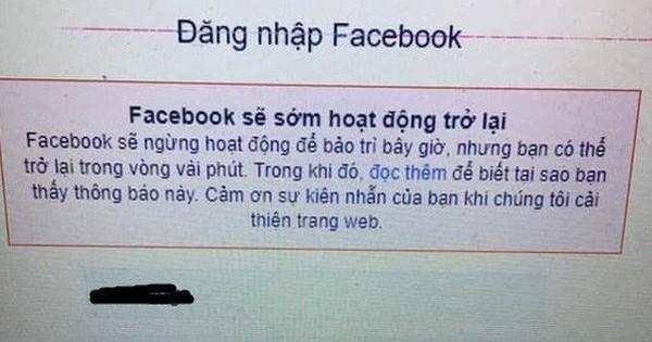 Facebook vẫn đang lỗi, người dùng không thể đăng tin, khó đăng nhập, chính Facebook cũng phải dùng Twitter để thừa nhận đang gặp vấn đề
