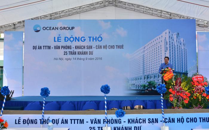 Ông Lê Huy Giang phát biểu tại một sự kiện của Ocean Group