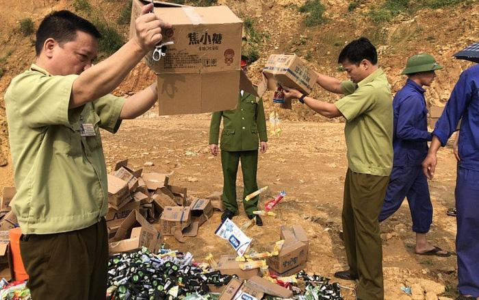 Lào Cai: Bắt nhiều hàng giả mạo xuất xứ, thực phẩm không rõ nguồn gốc