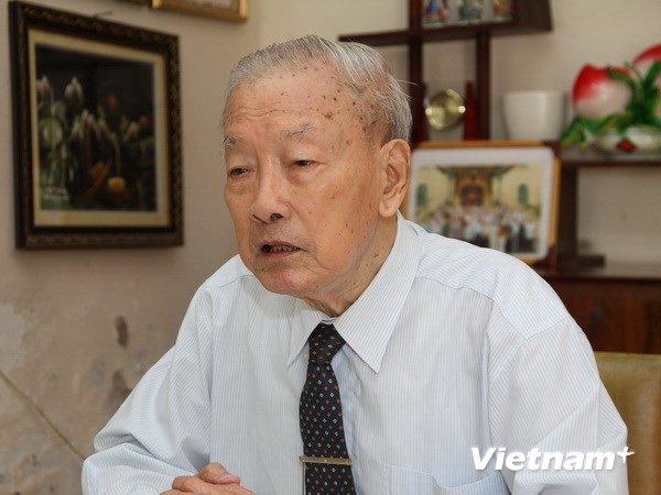 Nhà ngoại giao lão thành Hà Văn Lâu. Ảnh: Vietnam+