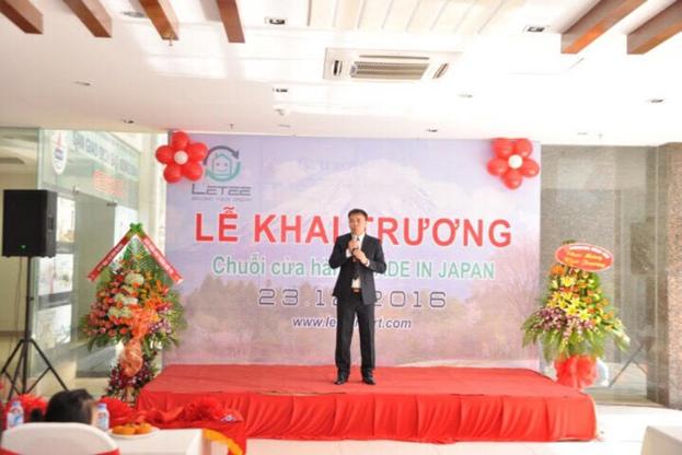 Ông Lại Quang Hưng phó tổng Giám Đốc BT Group phát biểu tại sự kiện